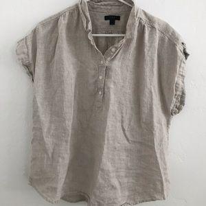 J Crew 100% linen blouse